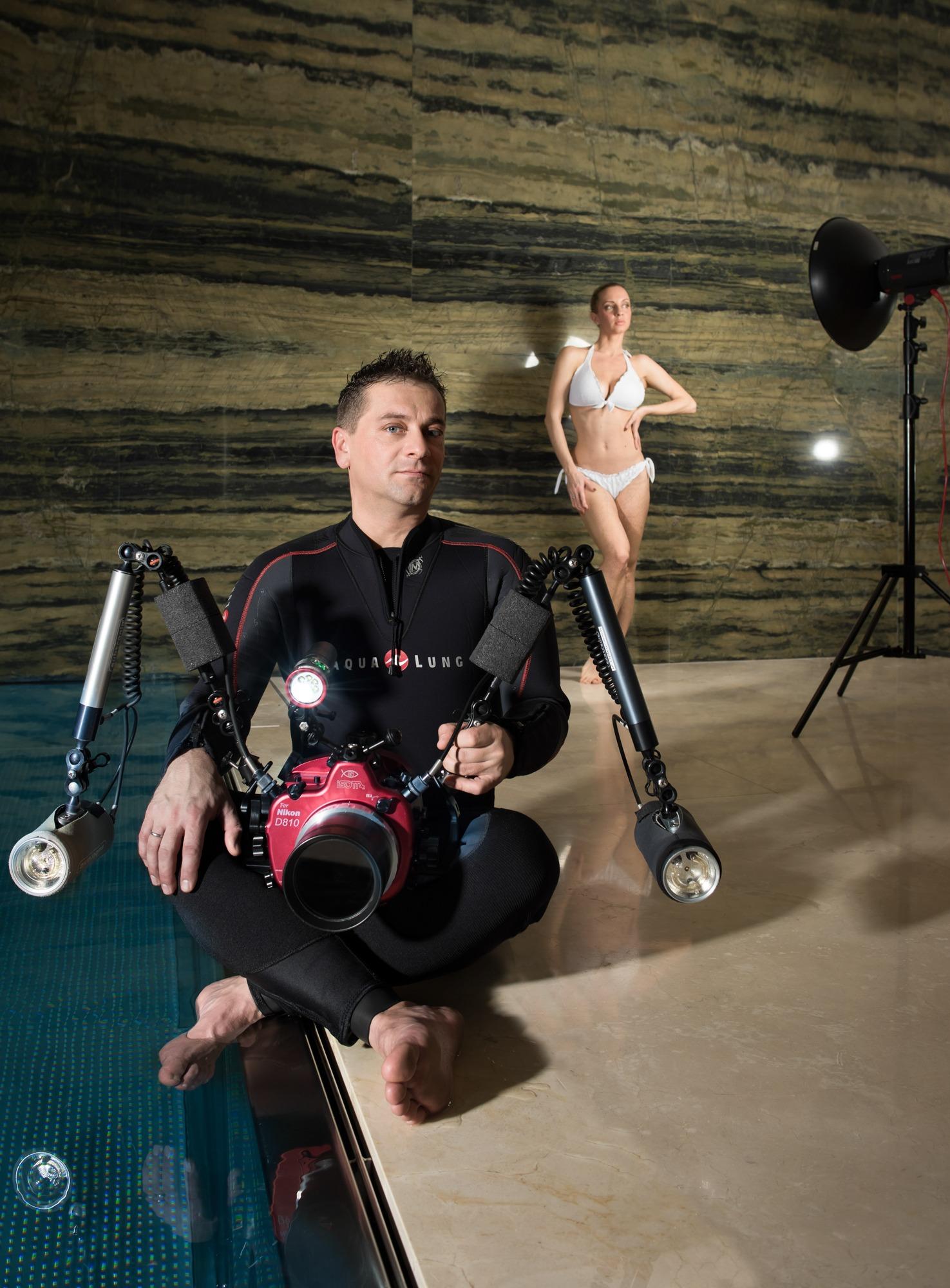 Unterwasser-Fotoshooting mit Martin Aigner
